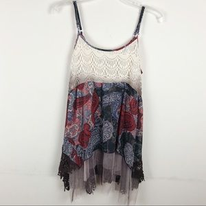 Gimmicks by BKE layered lace tank top